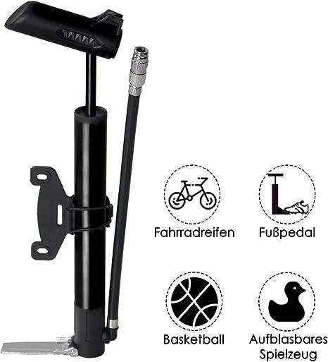 WOTOW Mini Bomba de Bicicleta, Bomba de Piso portátil para ...