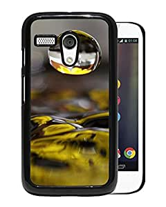 New Beautiful Custom Designed Cover Case For Motorola Moto G With Macro Water Droplet Over Lake Surface Phone Case