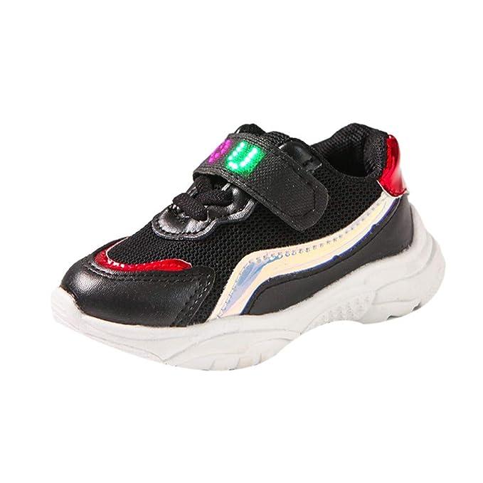 ❤ Zapatos de iluminación LED para niños, Niños Bebés Niños Carta de Malla Zapatos Ligeros de Deporte Que corren Luminosos Absolute: Amazon.es: Ropa y ...