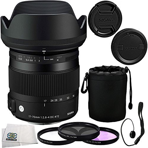 Sigma 17-70mm F2.8-4 DC Macro OS HSM Lens Kit for Canon D...