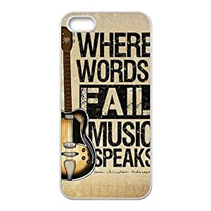 Case, For Case Iphone 6 4.7inch Cover - Fashion Style New Guitar Painted Pattern PC Soft For Case Iphone 6 4.7inch Cover (Black/white)
