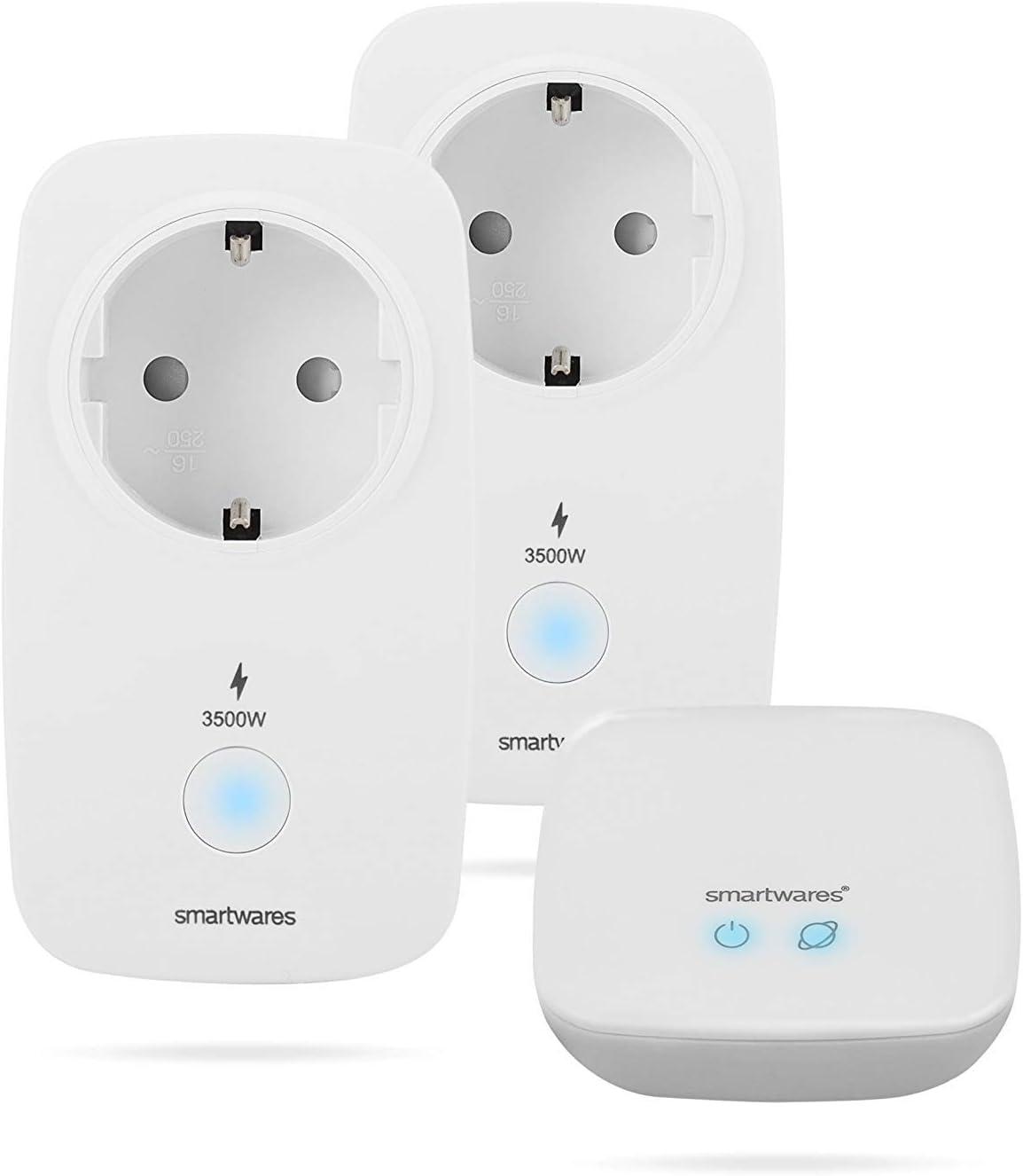 Smartwares SH8-99901 Pro Series - Kit de Control de Consumo energético, Enchufe Inteligente, Blanco, Set de 3 Piezas