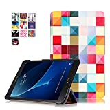 Galaxy Tab A 10.1 T580 Case, SAVYOU Painted Ultra Slim Tri-Fold Smart Leather Case Cover for Samsung Galaxy Tab A 10.1 2016 Release (SM-T580/SM-T585) Magic Cube