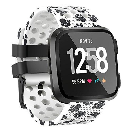 for Fitbit Versa Bands Sport Strap Material Breathable Strap Bands for Fitbit Versa Smart Fitness Watch Women Men Small