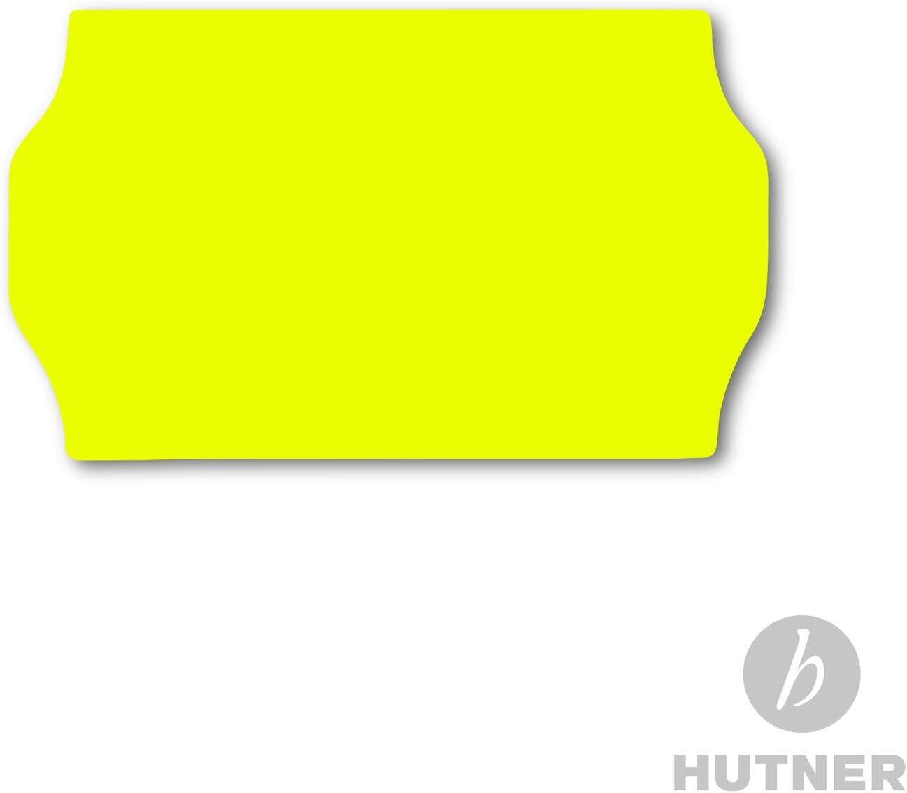 Preisauszeichner Etiketten 22 x 16 permanent Label HUTNER 10 Rollen a 1.000 St/ück leucht-gelb 10.000 Preisetiketten 22x16