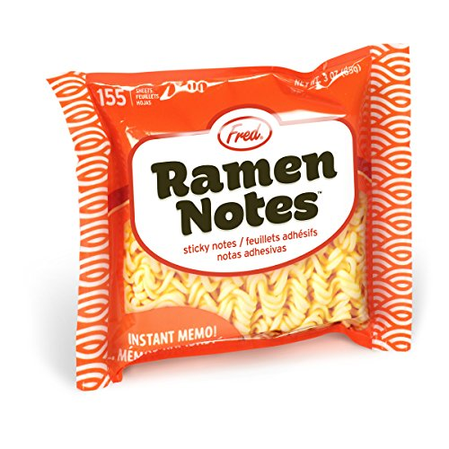 Fred 5200166 RAMEN NOTES Ramen Noddle Sticky Note Pad, 155 Sheets