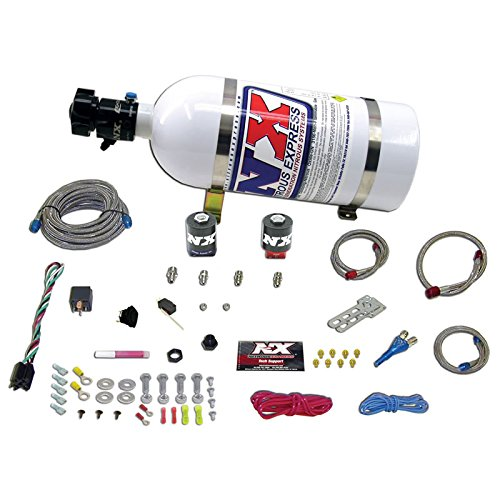 Nitrous Express 20921-05 35-150 HP EFI Single Nozzle System with 5 lbs. Bottle for Dodge