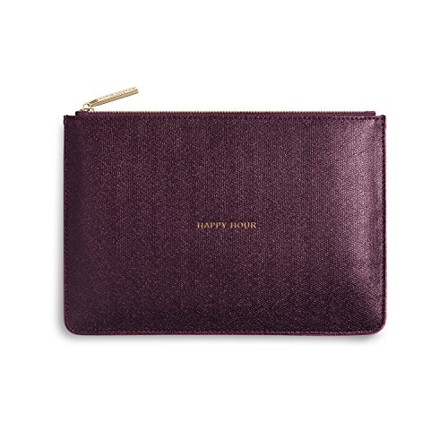 Katie Loxton Shiny Burgundy Happy Hour Women's Faux Leather Clutch Perfect - Shimmer Clutch