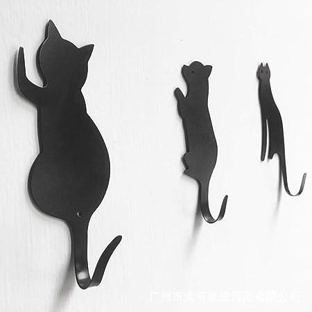 HAHAJY 3pcs Gato de Dibujos Animados Gancho de Metal ...