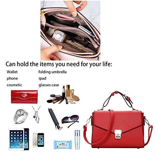 borsa di borse di del Borsa delle delle singola della borsa delle del singola modo sacchetto Rosso borse della spalla signore colore Tisdain messaggero della Hv0nH6