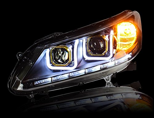 GOWE Car Styling Head Lamp for Honda Accord Headlight 2013 New Accord LED Headlight DRL H7 D2H Hid Option Angel Eye Bi Xenon Color Temperature:6000K Wattage:35W 2