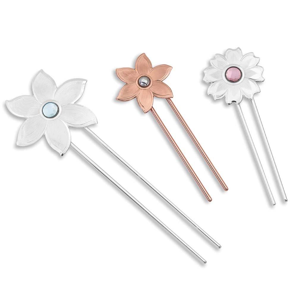 Montana Silversmiths Wild Flower Spark Hair Pin Set by Montana Silversmiths