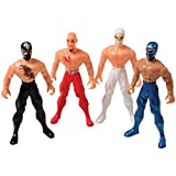 Assorted Color And Design Masked Wrestler Action Figures (24)