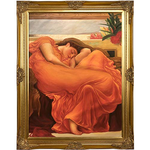 overstockArt Flaming June with Victorian Gold Framed Oil Painting, 48