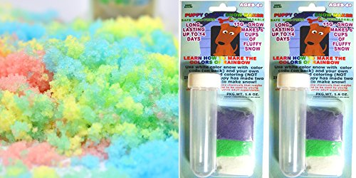 Science Gone Fun Amazing Colorful Instant Snow Powder 30 Grams with Test Tubes Will 12 Cups