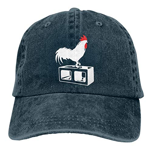 Baseball Cap for Men & Women, Cock Block Men's Cotton Adjustable Jeans Cap Hat Navy -