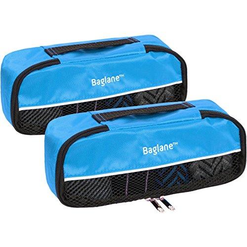 Price comparison product image Baglane Packing Cube Bag - Nylon Travel Luggage - 2pc Set (Aquamarine, XS)