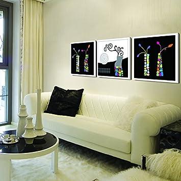 Paintsh Moderne, Minimalistische Mode Home Gemälde Triple Abstrakten  Gemälden Flur Veranda Schlafzimmer Gemälde Abstrakt Schwarz