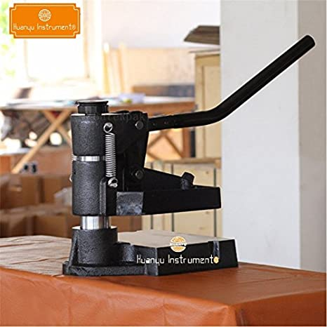 8360 máquina de muestreo manual a presión de mano de cuero para ...