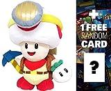 Captain Toad Standing: ~8.5'' Super Mario Bros Mini-Plush + 1 FREE Official Super Mario Bros Fun Card Bundle