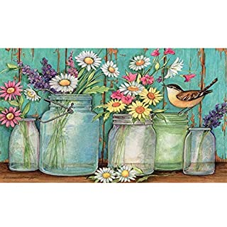 DIY 5D Full Diamond Painting Kit Diamond Art Kits for Adults Paint with Diamonds Kits Diamonds Embroidery by Numbers Daisy (11.8X15.7inch)