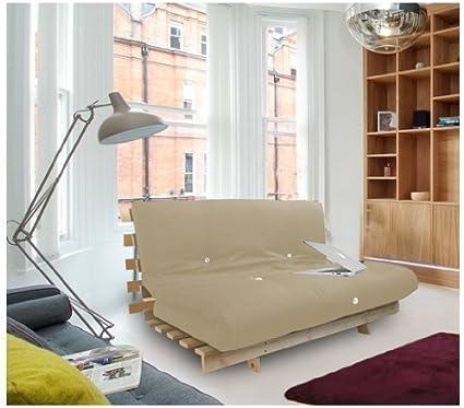 Shopisfy – Colchón futón, cama doble con somier Base, 3 plazas