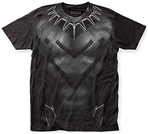 Captain America: Civil War- Black Panther Costume Tee T-Shirt Size XXL