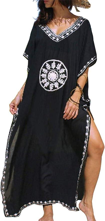 TALLA Talla única. L-Peach Kaftan Vestido Largo de Playa Mujer