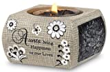 Modeles 88016 2.5-Inch Square Tea Light Holder Aunt Sentiment