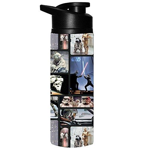 Silver Buffalo SW9089ST Star Wars Photo Reel Stainless Steel Water Bottle, 25-Ounces