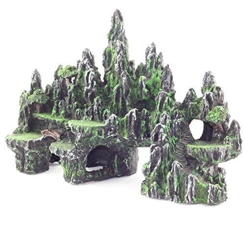 acquario di giardinaggio arredamento resina artigianato acquario paesaggio giardinaggio giardino roccioso, giardino roccioso decorazioni,verde dell'esercito 051 verde dell' esercito 051 ORMRG