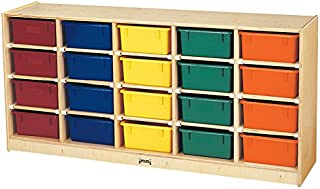 product image for Jonti-Craft 4021JC 20 Tub Mobile Storage with Colored Tubs