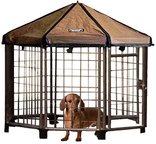 Advantek Pet Gazebo Outdoor Dog Kennel with Reversible Cover