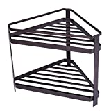 corner kitchen cabinet storage ideas 2 Tier Countertop Corner Spice Rack Organizer,GONGSHI Kitchen Counter Stand Seasoning Shelf Storage-Brown