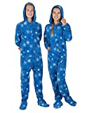 Footed Pajamas - Its A Snow Day Kids Hoodie Fleece - Small