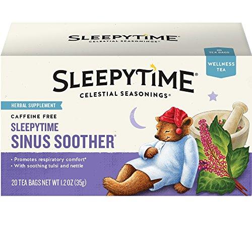 Celestial Seasonings Wellness Tea, Sleepy Time Sinus Soother, 20 Count
