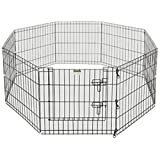 """Pet Trex 2205 24 x 24 8 Panel Pen Exercise Playpen for Dogs with High Panel and Gate, 24 x 24"""""""
