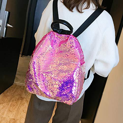 Fashion Borsa donna per Pink donna Variopinta Borse Creativo versatile Casual Tipo Zaino multifunzionale portatili Zaini Sylar e Hot Paillettes Grande multiuso F7ZYxaq