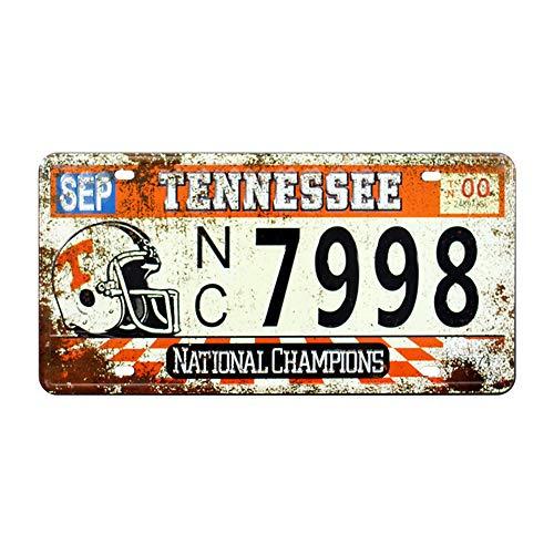 "Retro Vintage U.S. State Auto Number Tags, Tennessee, Embossed Metal License Plates, 12""x6"""