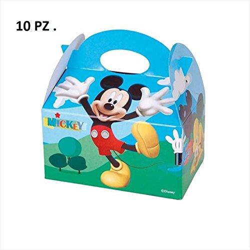 Irpot 10 SCATOLINE Box Topolino Disney PORTADOLCI Confetti REGALINI Compleanno chance