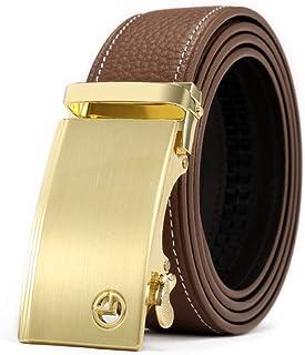 Cintura Da Uomo In Pelle Con Cricchetto Con A Abbigliamento Cinturino Fibbia Automatica Cintura In Metallo Cintura Da Uomo In Pelle Con Fibbia In Metallo