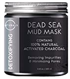 O Naturals Dead Sea Mud Mask with Charcoal - 8.45 oz. 100% Natural