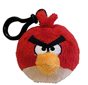 Angry Birds 2261 - Peluche pequeño de pájaro con hebilla, color rojo