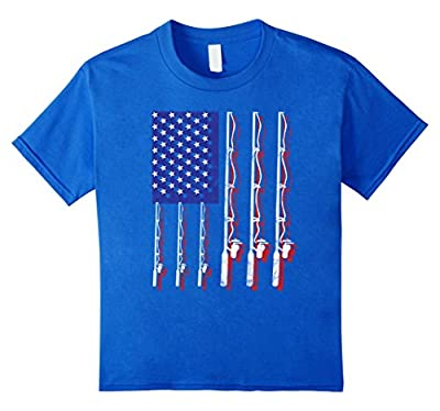 Fishing Flag Shirt Funny Patriotic Fathers Day 4th of July
