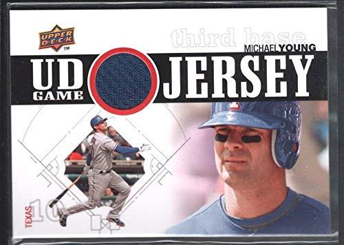 Texas 1 Rangers Jersey - BIGBOYD SPORTS CARDS Michael Young 2010 Upper Deck Series 1#UDGJMY Game Jersey Texas Rangers SP