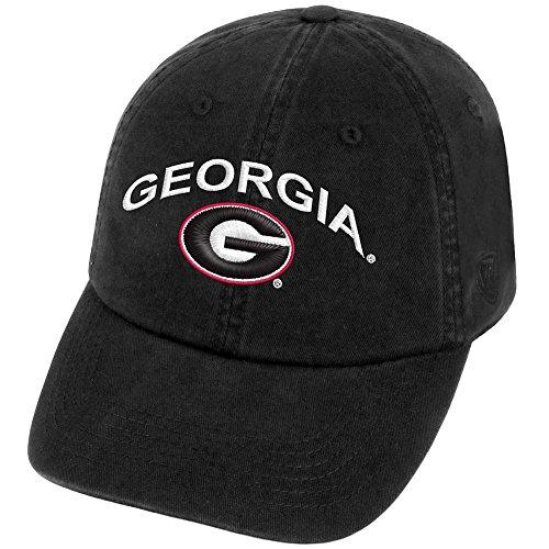 Elite Fan Shop Georgia Bulldogs Hat Arch Black - Coal - Bulldog Hat