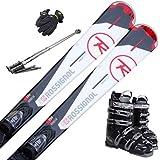 ROSSIGNOL(ロシニョール) 5点セット カービングスキー 15-16 PURSUIT 100 Xelium 金具付き ブーツ付き ストック付き グローブ付き