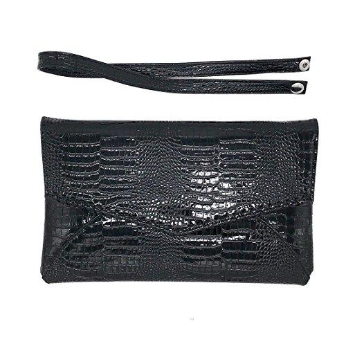 Clutch patent Evening Large Ladies Ladies Envelope Party leather Bag x4UqUHwXn