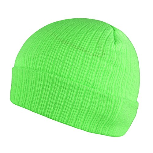 Patricks Day Knit Cap (Timol Unisex ST. Patrick's Day Beanie Knit Winter Soft Warm Hats For Women and Men Beanies Skull Caps (Neon-Green))