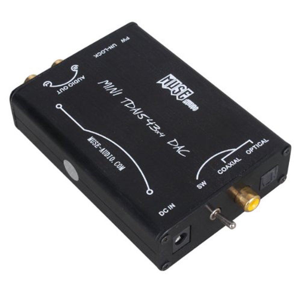 Vanki Black Tda1543x4 DIR9001+4X TDA1543 Parallel Connect Dac with Power Supply